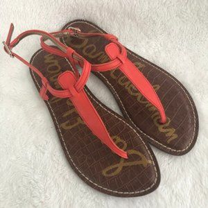NEW SAM EDELMAN GIGI THONG SANDALS ORANGE 6M
